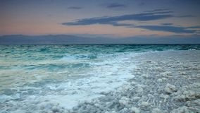 Dead Sea salt. Israel stock video
