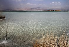 Dead Sea, is a salt lake bordering Jordan to the north, and Israel to the west. Its surface and shores are 430.5 metres 1,412 ft. Below sea level, arab stock image