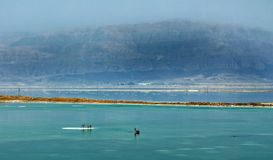 Dead Sea, is a salt lake bordering Jordan to the north, and Israel to the west stock photos