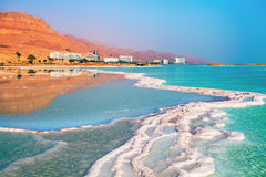 Dead sea. Salt shore. Ein Bokek, Israel Royalty Free Stock Photo