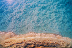 Dead sea salt shore, Israel Stock Photo