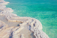 Dead sea salt shore stock image