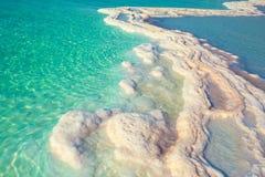 Dead Sea salt shore. Texture of Dead sea. Salt sea shore stock photos
