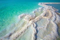 Dead sea salt shore. Texture of Dead sea. Salt sea shore royalty free stock photo