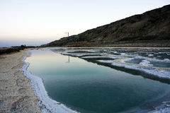 Dead sea salt and water Royalty Free Stock Photo
