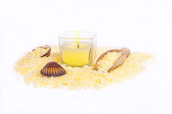 Dead sea salt yellow Royalty Free Stock Photo
