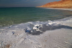 Dead Sea Salts. The Dead Sea contains the highest proportion of salts in the world, when the water dry it turns into different shapes, this kind of salt is rich royalty free stock photos