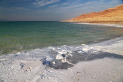 Dead Sea Salts. Dead Sea water contains a high density of salts and various minerals, when water dries various forms of salt Shown stock images