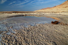 Dead Sea Salts. Dead Sea water contains a high density of salts and various minerals, when Water dry various forms of salt Formed royalty free stock photos