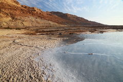 Dead Sea Salts. Dead Sea water contains a high density of salts and various minerals, when Water dry various forms of salt Formed stock photo