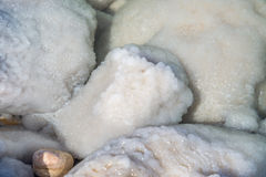 Dead Sea salty rocks Royalty Free Stock Photos