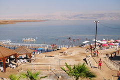 Dead Sea. Sandy beaches of the Dead Sea Stock Images