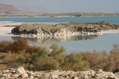 Dead Sea. With the Judean mountains, Israel Stock Photo