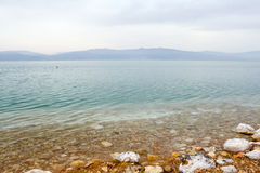 Dead Sea, seen from Israel Stock Photography
