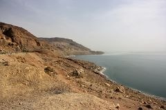 Dead Sea shore in Jordan Royalty Free Stock Photography