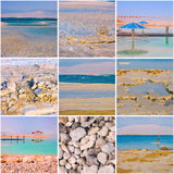Dead Sea square collage Royalty Free Stock Photos