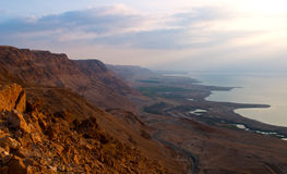 Dead Sea Sunrise Royalty Free Stock Images