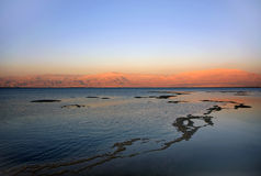 Dead sea at sunset Royalty Free Stock Photography