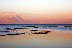 Dead sea at sunset Royalty Free Stock Images