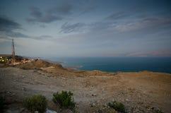 Dead Sea sunset royalty free stock image