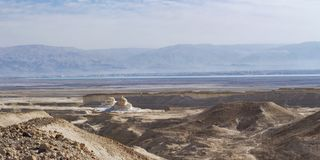 The Dead Sea and Surroundings from the Bottom of Masada royalty free stock photos
