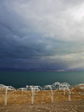 The Dead Sea in a thunder-storm Royalty Free Stock Photography