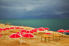The Dead Sea in thunder-storm Royalty Free Stock Image