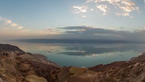 Dead Sea Time Lapse. V3 Sunset time lapse of Dead Sea stock video footage