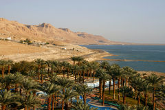 Dead Sea View. View from luxury hotel on the Dead Sea .Israel Royalty Free Stock Image