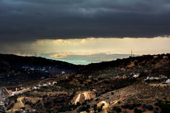 Dead sea. View from amman Royalty Free Stock Photo