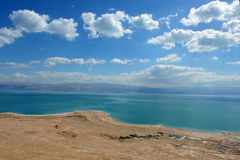 Dead Sea View Israel. View of Dead Sea coastline and Arava Desert in Israel Royalty Free Stock Images