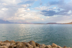 Dead sea view, Jordan mountains. Royalty Free Stock Photography