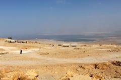 Dead Sea, view from Masada Stock Image