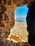 Dead sea view from Masada royalty free stock photos