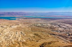 Dead sea view from Masada royalty free stock images