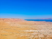 Dead sea view from Masada stock images