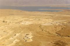 Dead Sea view from Masada, lowest place on earth. Stock Images