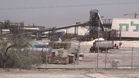 Dead Sea Works plant in Sedom Israel stock video footage