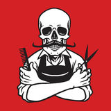 Dead Skull Barber Stock Photo