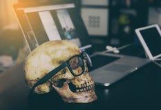 Dead Skull Business man Stock Photography