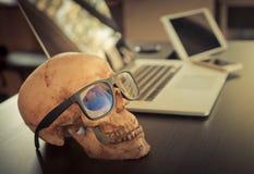 Dead Skull Corruption Business man Stock Image