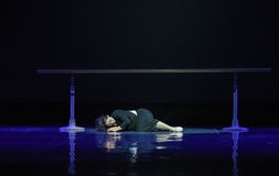 A dead sleep-The memories of youth-Modern dance Stock Photo
