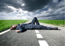 Dead on the street Royalty Free Stock Photos