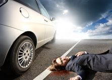 Dead on the street Royalty Free Stock Photo
