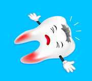 Dead tooth character. Stock Images
