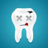 Dead from tooth holes Stock Photography