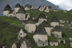 Dead town Dargavs in North Ossetia Royalty Free Stock Photography