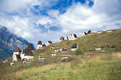 Dead town Dargavs in North Ossetia Stock Photography