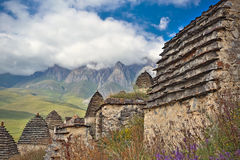 Dead town Dargavs in North Ossetia Royalty Free Stock Photo