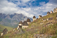 Dead town Dargavs in North Ossetia Royalty Free Stock Photos